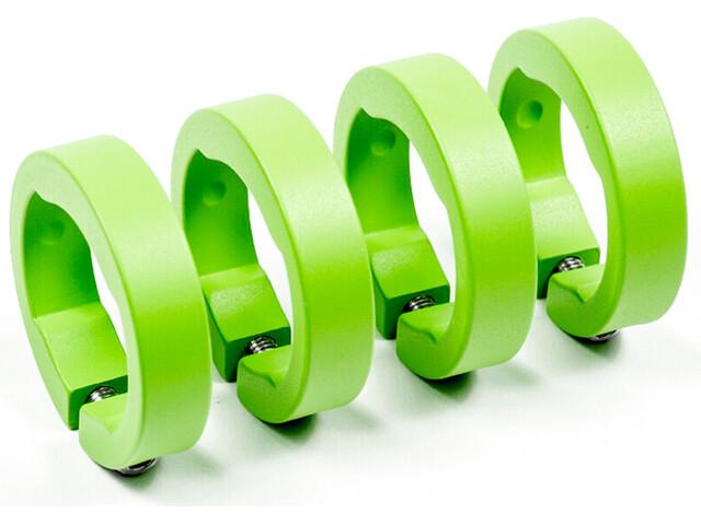 Sixpack Ersatzklemmringe Aluminium liquid-green